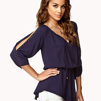 Peasant-Style Studded Tunic