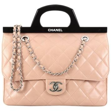 Chanel CC Delivery Tote Quilted Glazed Calfskin Small
