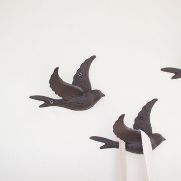 Cast Iron Flying Bird Wall Hook