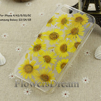 Pressed Flower iPhone 5 case, iPhone 5s case, iPhone 5c case, iPhone 4s case,iPhone 4 case, Galaxy S4 case, Galaxy S3 case, Real Flowers-014
