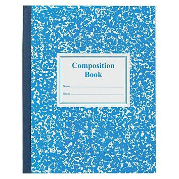 Roaring Spring® Grade School Ruled Composition Book, 9-3/4 x 7-3/4, Blue Cover, 50 Pages