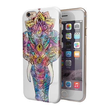 Bright Watercolor Ethnic Elephant 2-Piece Hybrid INK-Fuzed Case for the iPhone 6/6s or 6/6s Plus