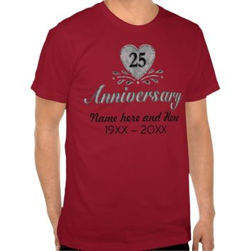Silver 25th Anniversary - Customize T-shirts