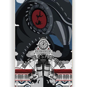 iPhone 4 Case - Hard (PC) Cover with Bioshock Infinite Poster Plastic Case Design