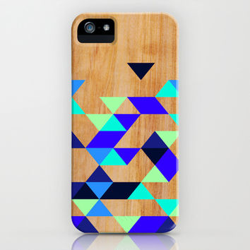 Geometric Blue Polygons iPhone & iPod Case by House of Jennifer