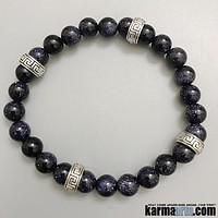 MAKE A WISH: Blue Goldstone | Yoga Chakra Bracelet