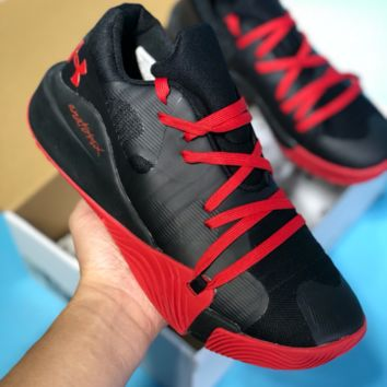 HCXX Under Armour 2018 Mesh Casual Basketball Shoes Black Red