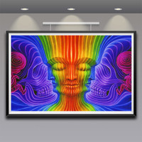 Alex Grey Art Fabric Psychedelic Poster Print