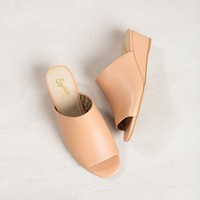 Seychelles Vendor Leather Mule Wedges