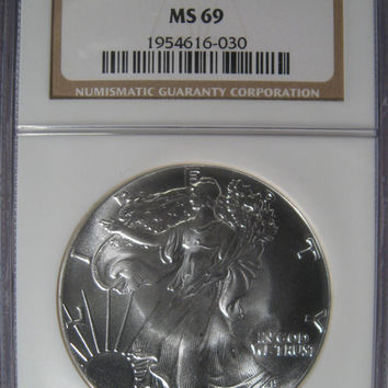 Silver Eagle, Walking Liberty Silver Dollar, 1986 Silver COIN, One Troy Ounce Silver Dollar, US Silver Collectable Coin, Silver Bullion Coin