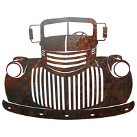 Rustic Rusty Metal Old Truck Sign Plaque Wall Decor Country Farmhouse Distressed
