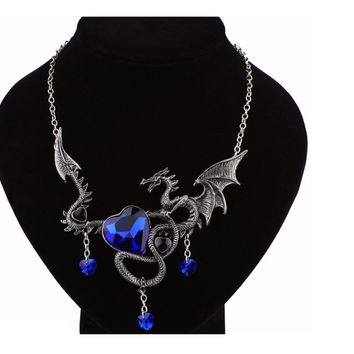 New Fly Dragon Heart Chokers Necklace For Women