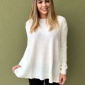 Wrapped In Love Sweater- Cream