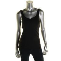 Solow Sport Womens Stretch Ribbed Knit Tank Top