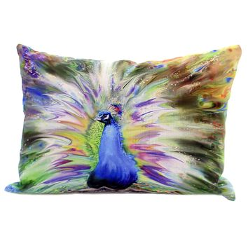 Home Decor COLOR SPLASH PEACOCK PILLOW Polyester Climaweave Shcpek