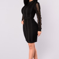 Arlette Bandage Dress - Black
