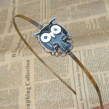 Steampunk Owl 60302 Headband Vintage Style Original by sallydesign