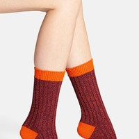 Women's Scott-Nichol 'Fern' Contrast Color Socks