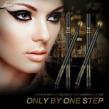 Silky feeling eyeliner cool black fine quick-drying liquid eyeliner pen anti-perspiration waterproof  M02735