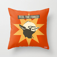 Yoda throw pillow cover - Star Wars pillow - christmas gift ideas - Present for him - birthday gifts for boyfriend - cool gifts for guys