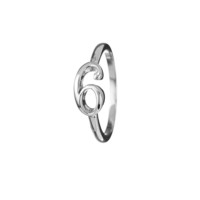 Code Sterling Silver #6 Ring