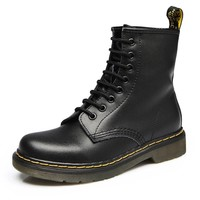 Women's Lace Up Bootie -Shoes Ankle Boots Winter Cow Leather Bootie