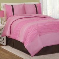 Lush Decor Paloma Comforter Set in Pink | Wayfair