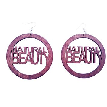 natural beauty earrings (hoop) | Natural hair earrings | Afrocentric earrings | jewelry | accessories
