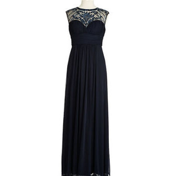 Xscape Beaded Illusion Gown