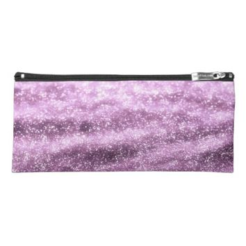 Glitter purple pencil case