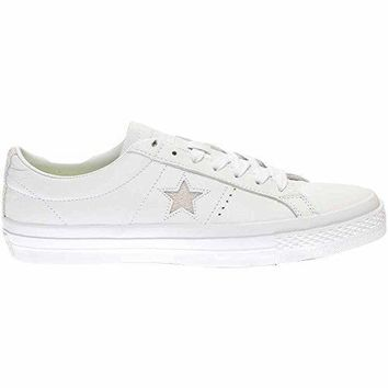 Converse Unisex Mens One Star Premium Leather Low Ox Fashion Sneaker Shoe