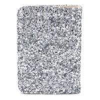 Deux Lux Women's Starlight Passport Cover, Silver, One Size