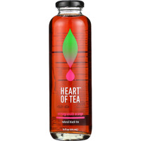 Heart Of Tea Tea - Iced - Natural Black - Pomegranate Orange - 14 oz - case of 12