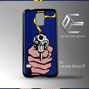 Roy Lichtenstein - Gun in America case for iPhone, iPod, Samsung Galaxy