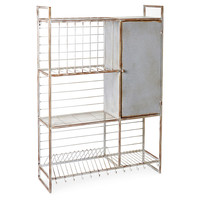 Metal Wall Rack w/ Shelves & Hooks, Wall Storage & Organization