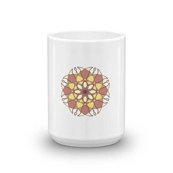 Mug for coffee tea spiritual mandala sacred geometry abstract meditation yoga 5d alien abstract creative art for hipster indie creative arti
