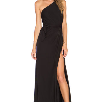 JILL JILL STUART One Shoulder Maxi Dress in Black