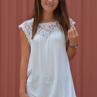 Adeline Lace Top in White