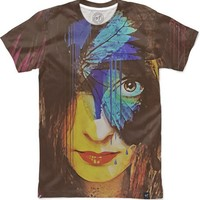 Chrysalis Abstract Portrait Women's T-Shirts by Galen Valle | Nuvango
