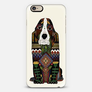 Basset Hound love ivory iPhone 6s case by Sharon Turner | Casetify