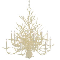 White Coral Chandelier - Large - Belle Escape