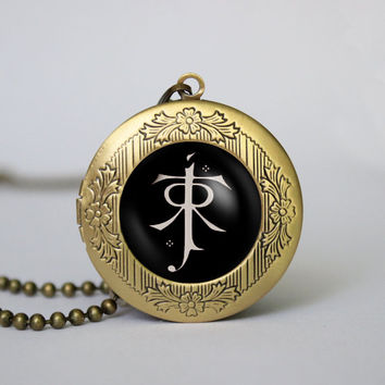 LOTR pendant Lord of the Rings jewelry Elf symbol necklace,gift girlfriend boyfriend gift