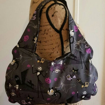 Nightmare - before - Christmas - Jack - SKELLINGTON  - SALLY - Disney - pinup - rockabilly  - Retro - vintage  - style - oversize - hobo bag