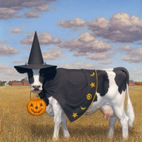 """Halloween Cow"" - Art Print by Tristan Elwell"