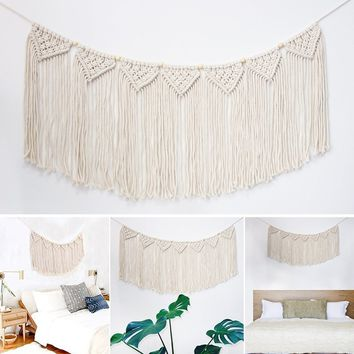 "Macrame Wall Hanging Tapestry, Fringe Garland Banner Woven Wall Decor for Living Room &  Wedding Party Decoration, 15""W x35""L, 7"