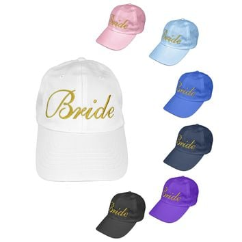 DALIX Bachelorette Party Hats Bride Squad Dad Caps Wedding Bridal Shower