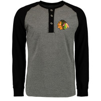 Chicago Blackhawks Rinkside Anders Henley Long Sleeve T-Shirt - Gray
