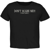 Halloween Scare Poop Easily Black Toddler T-Shirt