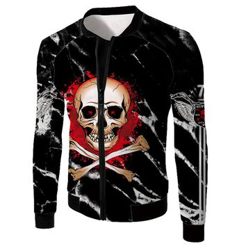 Skulls Printing Men's Zipper Jackets Spring Antumn Outerwear
