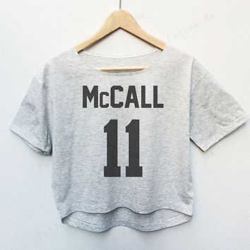 Scott Mccall Teen Wolf Tees Crop Top Fashion T-shirt Woman